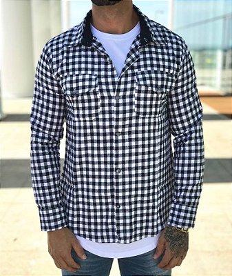 Camisa Xadrez Preto e Branco - Kawipii