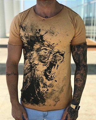 Camiseta Longline Leão - Masterdom