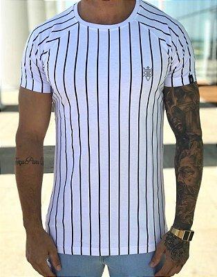 T-shirt Long Listras White - Riviera Clothing