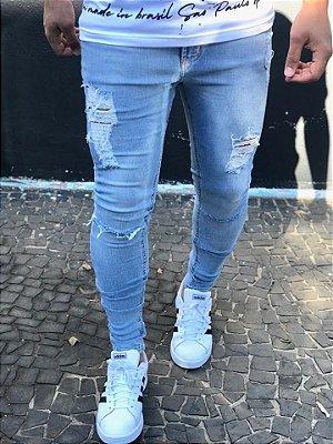 Calça Jeans Skinny Destroyed Ferrugem - Riviera Clothing