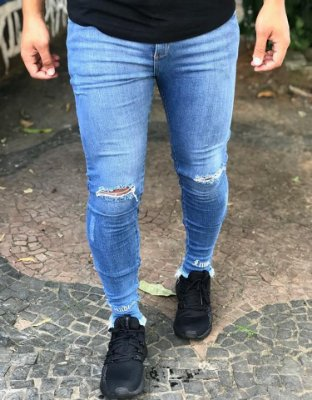 Calça Jeans Skinny Rasgo Joelho SOFT - Hundred Limit