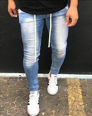 Calça Jeans Skinny Sky Bleach - Zip Off