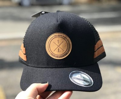 Boné Trucker Label Black- The Hope