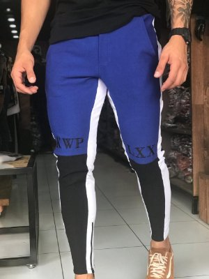 Calça Moletinho Three Colors Blue - Kawipii
