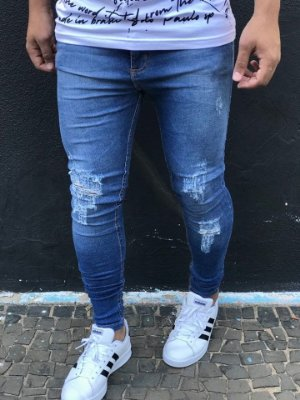 Calça Jeans Skinny Destroyed Desf Used - Riviera Clothing