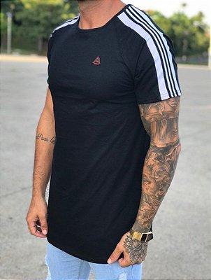 Camiseta Longline Faixa Ombro Black - Kawipii