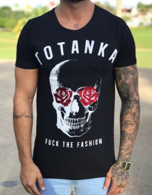 Camiseta Longline Eyes Rose Black - Totanka