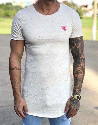 Camiseta Longline Skull Flowers - Totanka