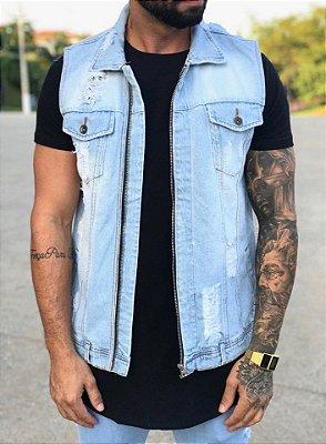 Colete Jeans Delavê - Degrant