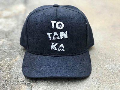 Boné Snapback Black Skull Suede - Totanka