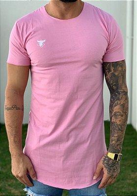Camiseta Longline Basic Rosa - Totanka