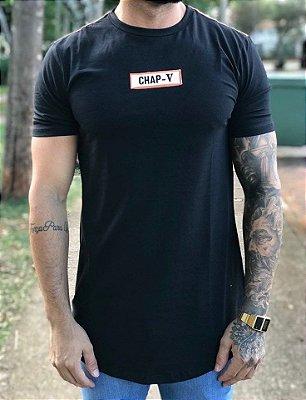 Camiseta Longline Recorte Costas - Chap-V