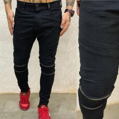 Calça Black Skinny Bike - Degrant
