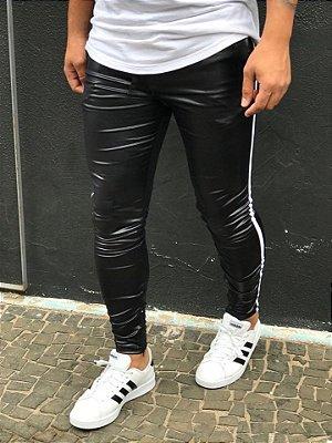 Calça Resinado Black Faixa Lateral - Lacapa
