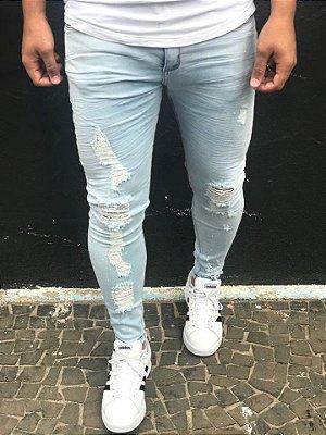 Calça Jeans Skinny Lavagem Clara Destroyed - John Jones
