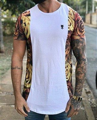 Camiseta Longline Yellow Roses - Imperium Clothing