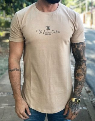 Camiseta Longline Signature Classic Chocolate - FB Exclusive Clothing