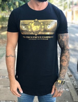 Camiseta Longline Dolar Skull Foil Gold - FB Exclusive Clothing