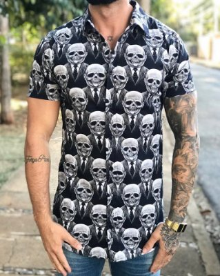 Camisa Manga Curta Alien Black - Grace