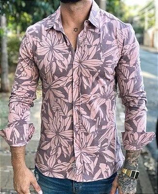 Camisa Manga Longa Pantone Flowers - Zip Off
