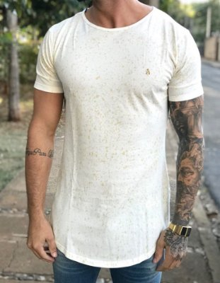 Camiseta Longline Off White Respingos - Alltribe