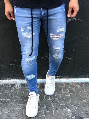 Calça Jeans Skinny Destroyed Claro & Corda - Zip Off