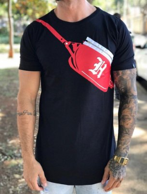 Camiseta Longline Bag Red - Haterz