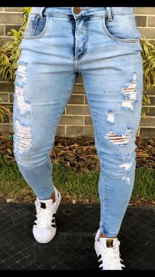 Calça Jeans Skinny Destroyed Clear - Codi Jeans