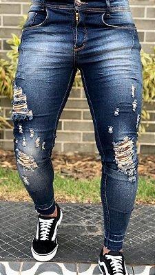 Calça Jeans Skinny Destroyed Dirty Ferrugem - Codi Jeans