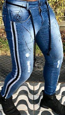 Calça Jeans Skinny Destroyed Respingos & Corda - Codi Jeans