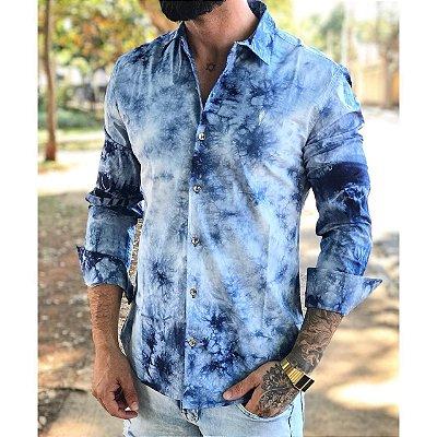 Camisa Manga Longa Tie Dye - ZIp Off