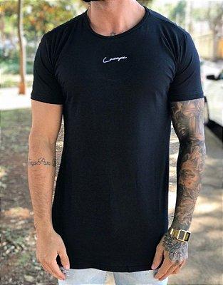 Camiseta Longline Basic Black - Lacapa