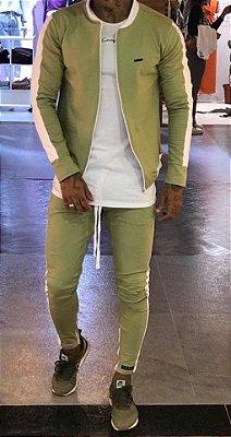 Conjunto Moletinho Green - Lacapa - (Jaqueta Bomber + Calça)