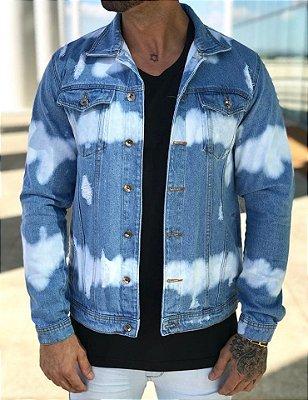Jaqueta Jeans Tie Dye - Degrant