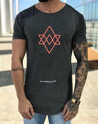 Camiseta Longline Comunication Grey - Alltribe