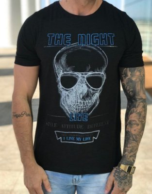 T-Shirt Skull The Night Black - Austin Club