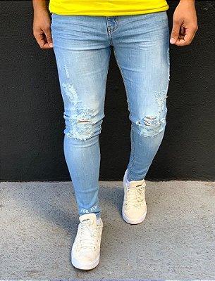Calça Jeans Skinny Destroyed Mykonos - Alltribe