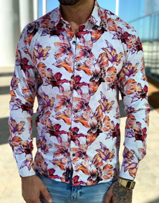 Camisa Manga Longa Floral - Carboss