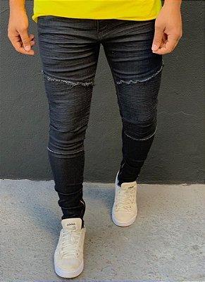 Calça Black Lixado Skinny Biker - Kawipii