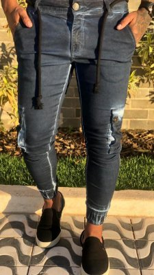 Calça Jogger Skinny Marinho Estonado - Codi Jeans