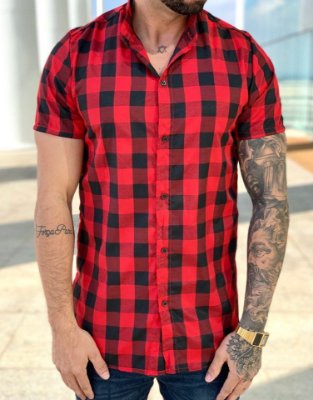 Camisa Manga Curta Xadrez - Lacapa