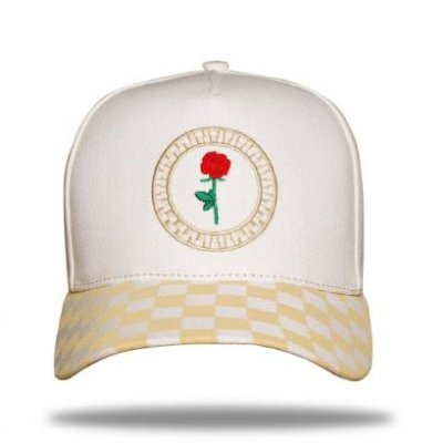 Boné Snapback Grid Roses Off White - BLCK