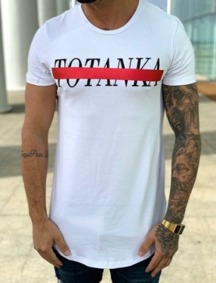Camiseta Longline White Middle - Totanka