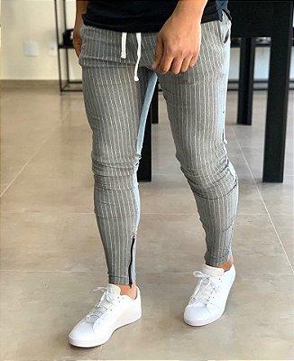 Calça Moletinho Risca de Giz Grey - Lacapa