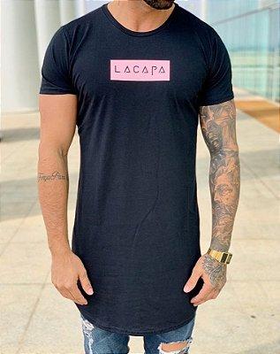 Camiseta Longline Square Black - Lacapa