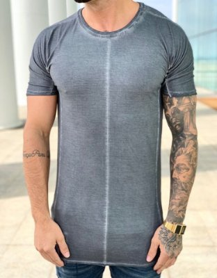 Camiseta Longline Stone Grey - Austin Club
