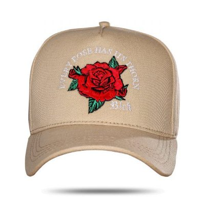 Boné Snapback Every Roses Bege - BLCK