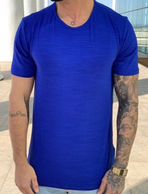 Camiseta Longline Basic Blue - Austin Club