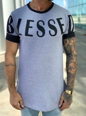 Camiseta Longline Blessed - King Joy