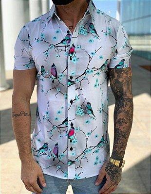 Camisa Manga Curta Birds - Grace
